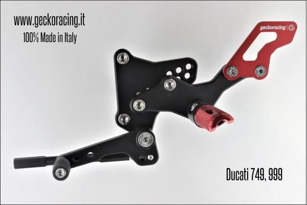 Pedane arretrate regolabili Ducati 749, 999 cambio