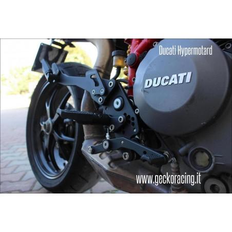 Pedane arretrate accessori Ducati Hypermotard 620 796 1000 1100