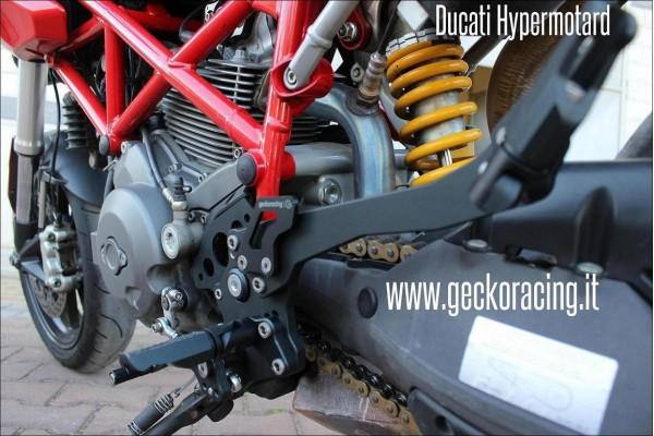 Pedane nere Ducati Hypermotard 620 796 1000 1100