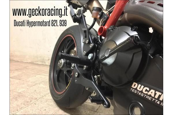 Poggiapiedi Pedane Ducati Hypermotard 821, 939