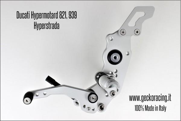 Pedane arretrate regolabili Ducati Hypermotard 821, 939 Cambio