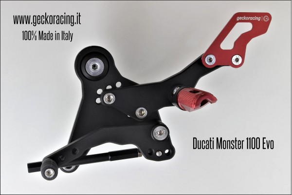 Pedane arretrate regolabili Ducati Monster 1100 Cambio