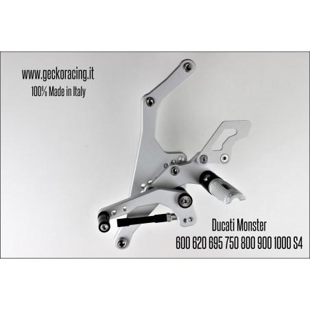 Pedane arretrate regolabili Ducati Monster 600 620 695 750 800 900 1000 Cambio