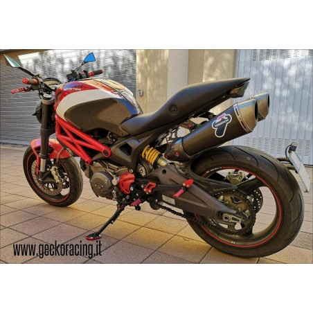 Pedane arretrate accessori Ducati Monster 696 795 796 1100