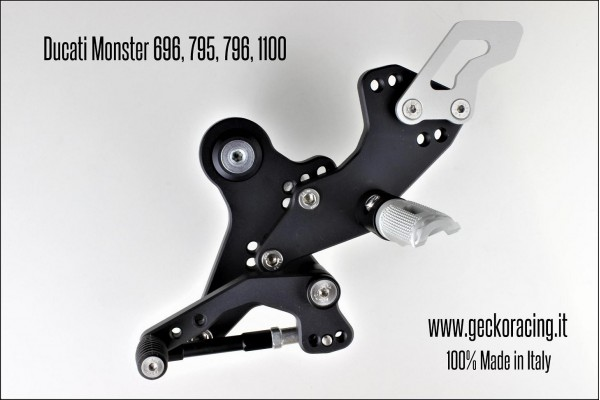 Pedane arretrate regolabili Ducati Monster 696 795 796 1100 Cambio