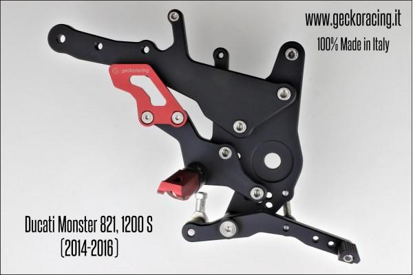 Pedane arretrate regolabili Ducati Monster 821, 1200 Freno