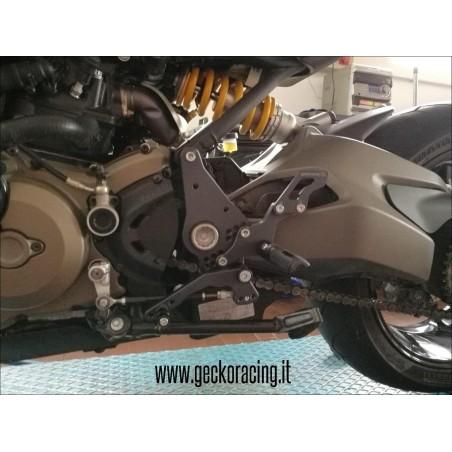 Pedane arretrate regolabili Ducati Monster 821