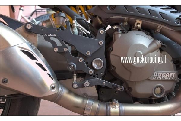 Pedane arretrate regolabili Ducati Monster 1200
