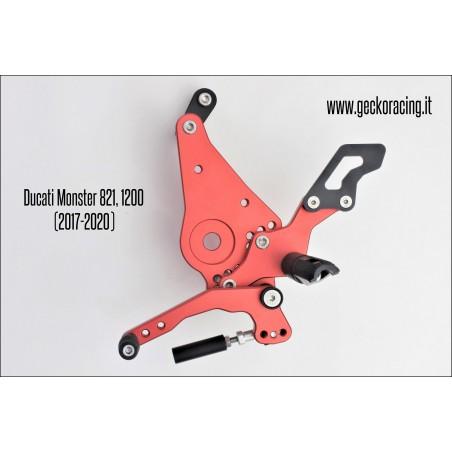 Pedane arretrate regolabili Ducati Monster 821, 1200 Cambio