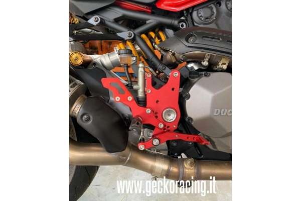 Pedane arretrate accessori Ducati Monster 821, 1200