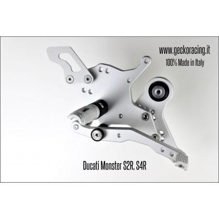 Pedane arretrate regolabili Ducati Monster S2R, S4R Freno