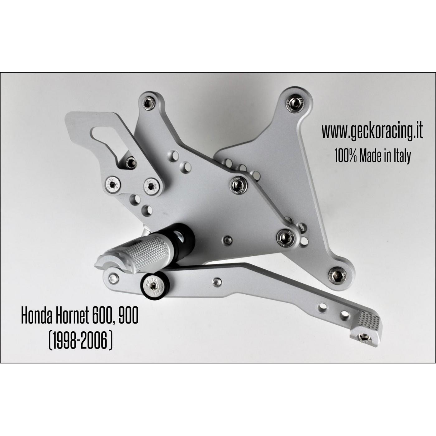 Pedane arretrate regolabili Honda Hornet 600, 900 Freno