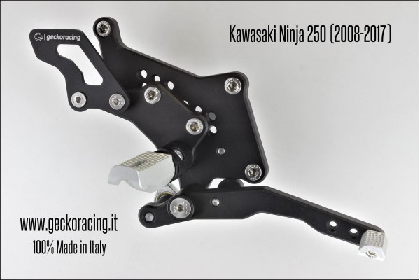 Pedane arretrate regolabili Kawasaki Ninja 250 Freno