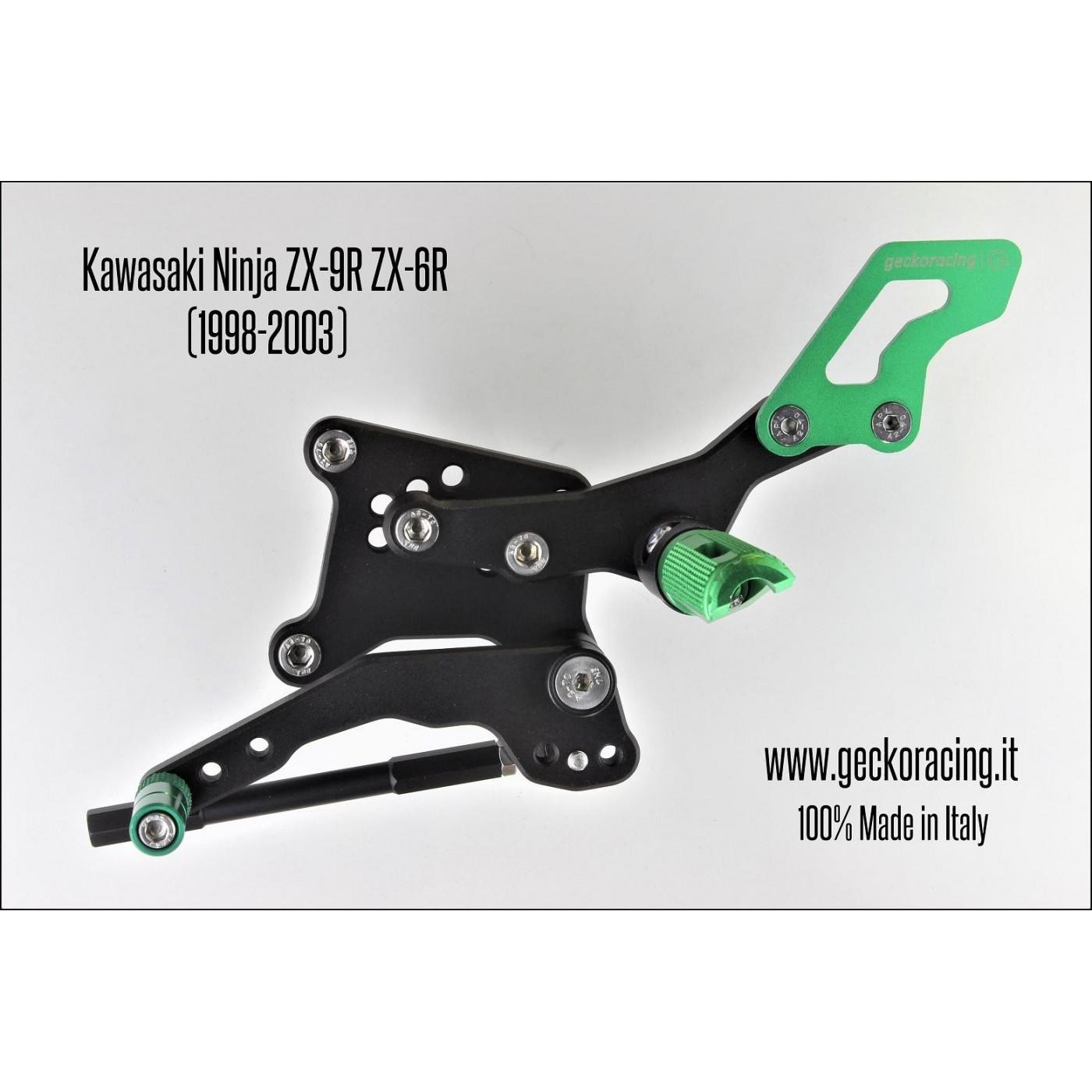 Pedane arretrate regolabili Kawasaki Ninja ZX-9R ZX-6R Cambio