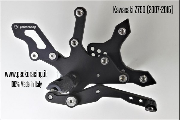 Pedane arretrate regolabili Kawasaki Z750 Freno