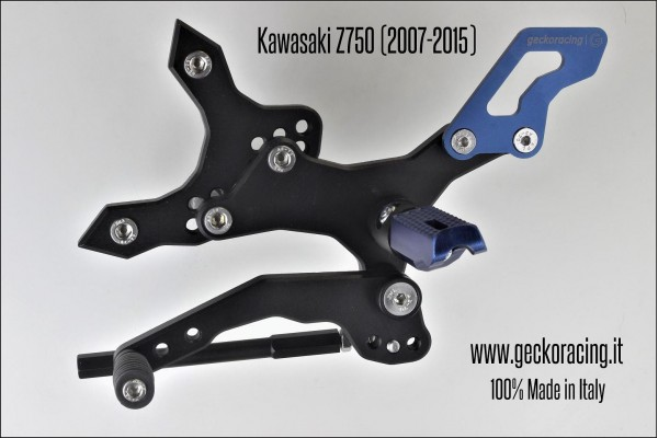Pedane arretrate regolabili Kawasaki Z750 Cambio