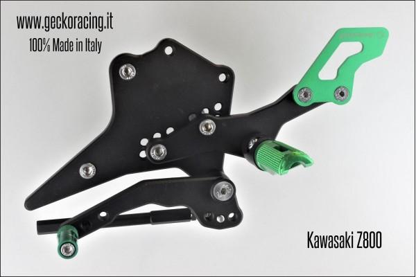 Pedane arretrate regolabili Kawasaki Z800 Cambio