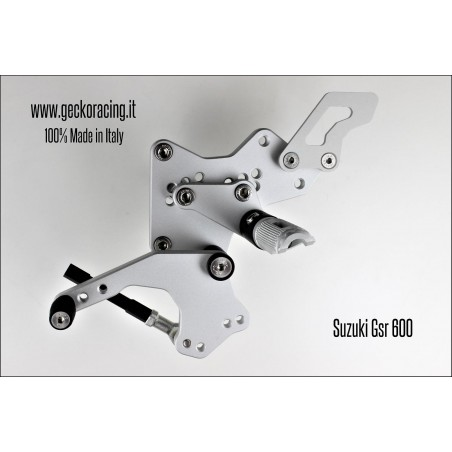 Pedane arretrate regolabili Suzuki Gsr 600 Cambio