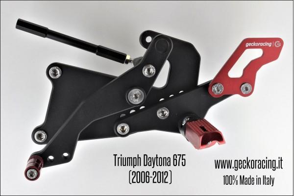 Pedane arretrate regolabili Triumph Daytona 675 Cambio