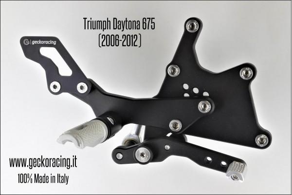 Pedane arretrate regolabili Triumph Daytona 675 Freno