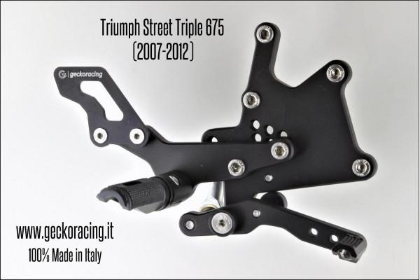 Pedane arretrate regolabili Triumph Street Triple 675 Freno