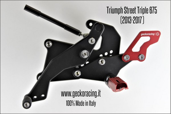 Rearsets Adjustable Triumph Street Triple 675 Gear