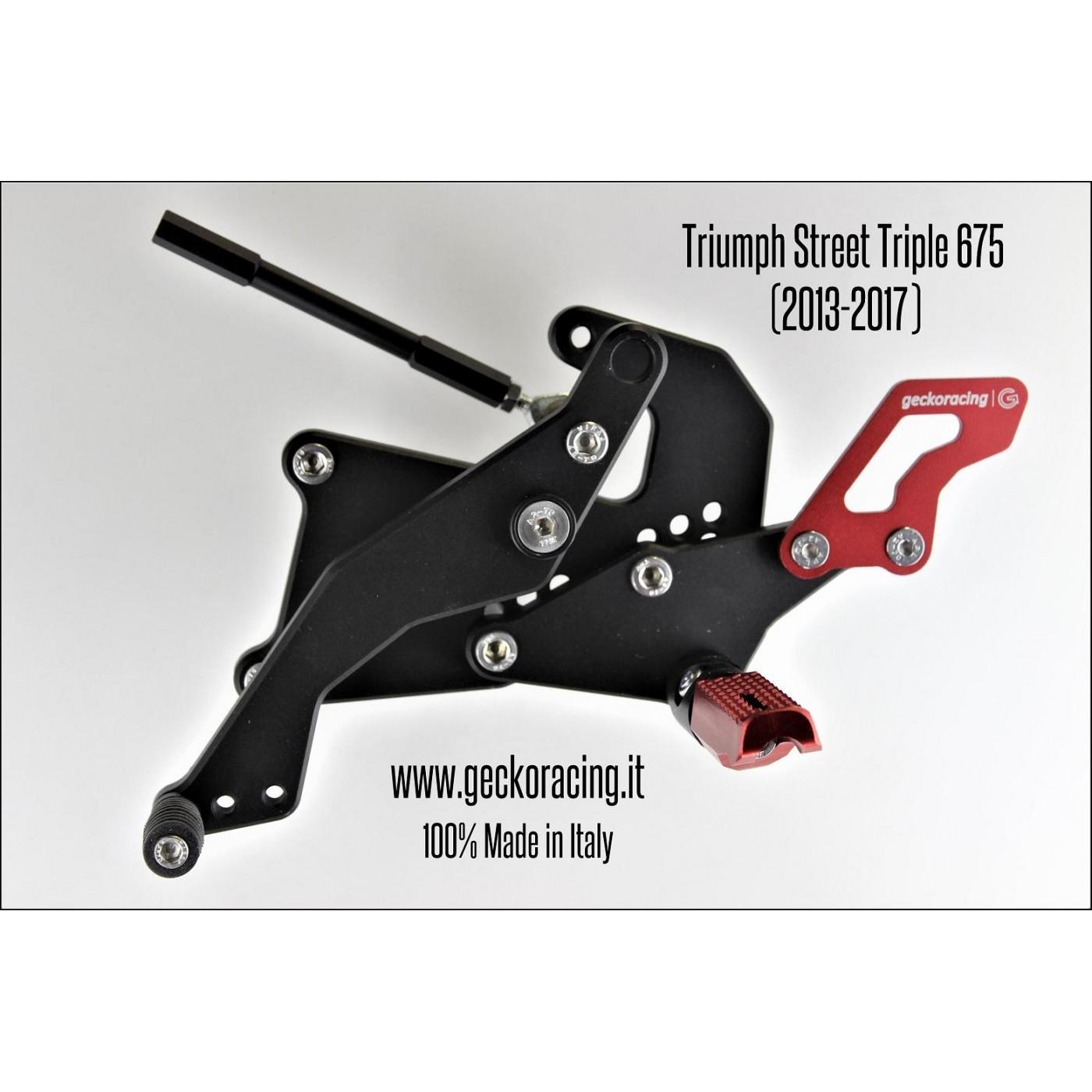 Pedane arretrate regolabili Triumph Street Triple 675 Cambio
