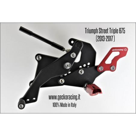 Rearsets Adjustable Triumph Street Triple 675 Gear