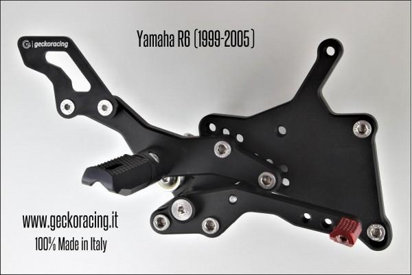 Pedane arretrate regolabili Yamaha R6 Freno